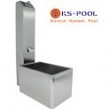 Ducha pileta lavapies de acero inoxidable para piscinas y exteriores
