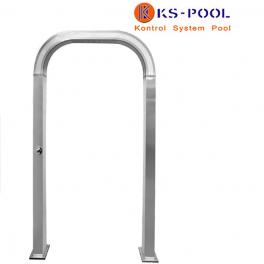 Arco / Puente ducha curvo acero inoxidable AISI 316L para piscinas