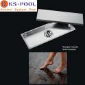 Sumidero de acero inoxidable AISI 316 para piscinas.