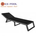 Tumbona plegable con ruedas para piscinas, jardin