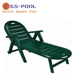 Tumbona plegable con ruedas y reposabrazos para piscinas, jardin