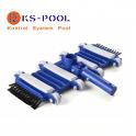 Limpiafondos flexible con cepillos para limpieza de piscinas