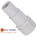 Racord conexion para manguera autocortable / precortada de piscina