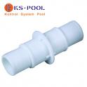 Enlace unión conexión para manguera autocortable / precortada de piscina