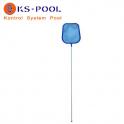 Recogehojas plano con pértiga 120cm fina para piscinas