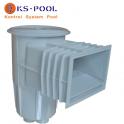 Skimmer generico con tapa circular / redonda para piscina