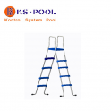 Escalera c/plataforma piscinas portatiles desmontables