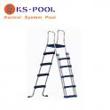Escalera seguridad c/plataforma piscinas portatiles desmontables