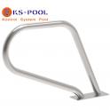 Pasamanos curvo doble pletina de acero inoxidable AISI 316 piscinas