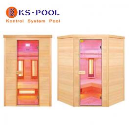 Sauna infrarrojos en madera picea modelo Purewave