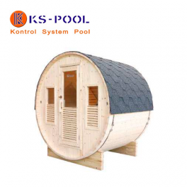 Sauna de exterior modelo Bella, para jardín, piscinas
