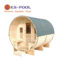 Sauna Sauna de exterior modelo Luna, para jardín, madera de abeto canadiense