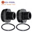Repuesto Kit racord enlace negro para filtro de piscina Kripsol