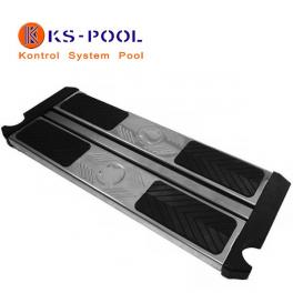 Peldaño doble de seguridad acero inoxidable escaleras piscinas