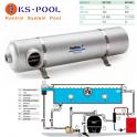 Intercambiador de calor MAXI-FLOW Titanium piscina, spa, jacuzzi