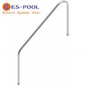 Pasamanos piscinas con pletina para atornillar de acero inoxidable AISI 316
