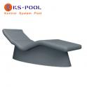 Tumbona Sanoasa 3 de poliestireno de alta densidad para spa, piscina