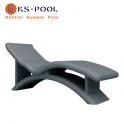 Tumbona Sanoasa 4 de poliestireno de alta densidad para spa, piscina