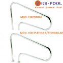 Pasamanos curvo de acero inoxidable AISI 316 para piscinas