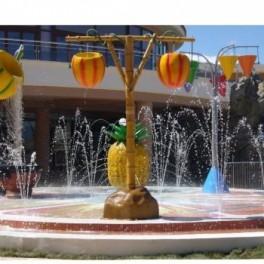 Frutos colgantes chorros parque infantiles