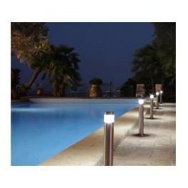 Baliza acero inoxidable led piscinas, jardines