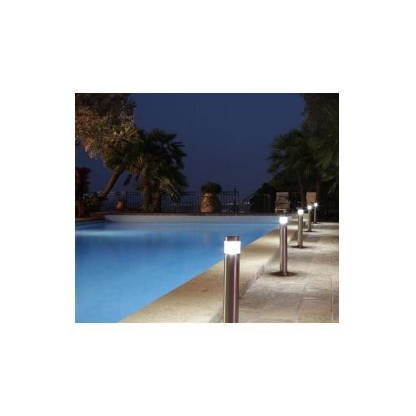 Baliza acero inoxidable led piscinas jardines for Piscina acero inoxidable