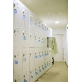 Taquilla cuatro puertas piscinas, vestuarios, baños, gimnasio, spas