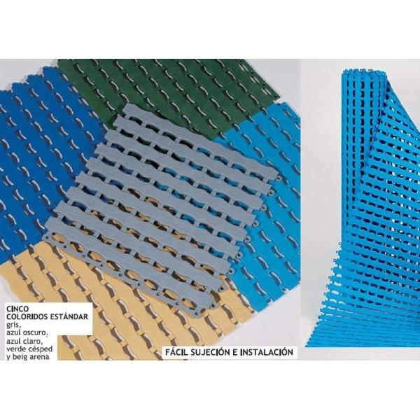 Suelo antideslizante enrollable piscinas vestuarios for Suelos para banos antideslizantes